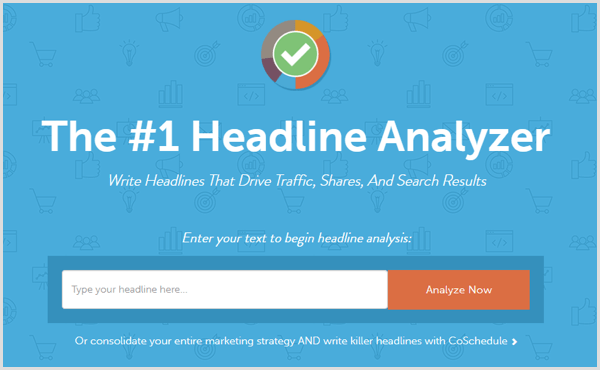 CoSchedule Headline Analyzer search box