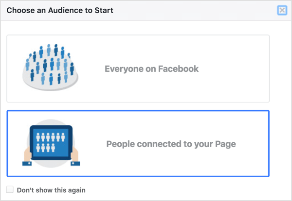 Select People Connected to Your Page in Facebook Audience Insights.
