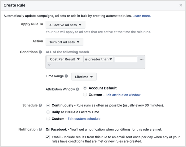 How to Use Facebook Automated Rules to Manage Facebook Ad