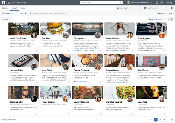 Facebook rolled out Brand Collabs Manager, which lets brands discover creators with whom they can potentially establish deals and partnerships
