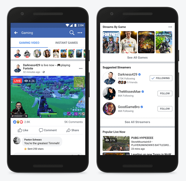 Facebook announced the Level Up Program, a new program specifically for emerging gaming creators, and debuted a new place for people from around the world to discover and watch gaming video streams on Facebook.