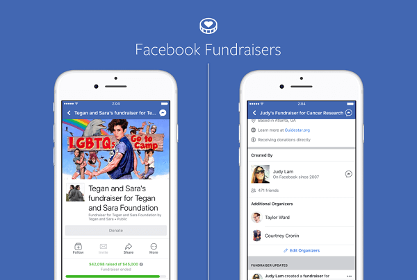 Facebook pages for brands and public figures can now use Facebook's fundraisers to raise money for nonprofit causes, and nonprofit organizations can do the same on their own pages.