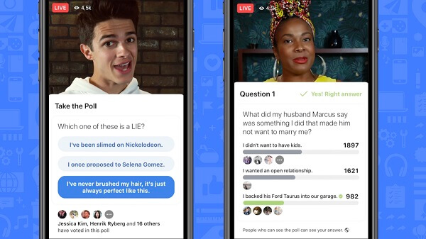Facebook is making Live videos more interactive with polling for Live and on-demand videos and gamification for Live videos.