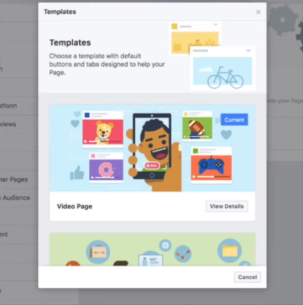 Facebook is testing a new video template for Pages that puts video and community front and center on a creator's Page, with special modules for things like videos and groups.