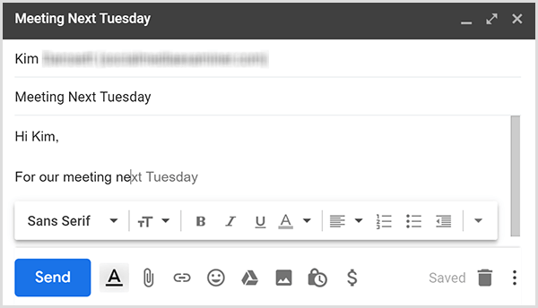 Gmail Smart Compose uses predictive text to help you write emails quickly.