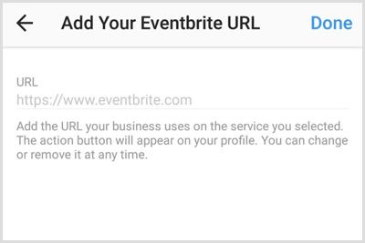 URL toevoegen voor account of pagina van app van derden