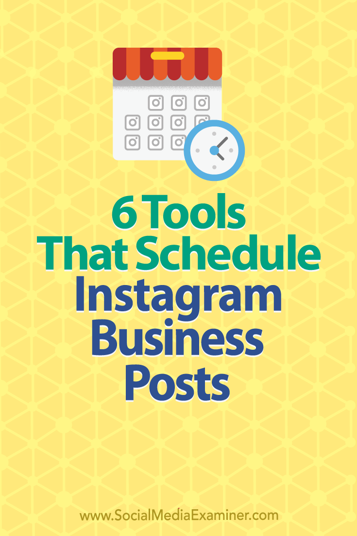 Discover six social media tools that let business profiles schedule and publish posts directly to Instagram.