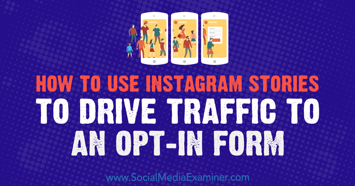 How to Use Instagram Stories to Drive Traffic to an Opt-In Form