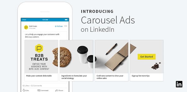 LinkedIn rolled out new carousel ads for Sponsored Content that can include up to 10 customized, swipeable cards.