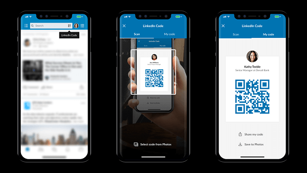LinkedIn introduced LinkedIn QR code to make it easier to connect on-the-spot when meeting someone in person.