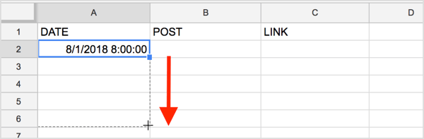Google Sheets will autopopulate the dates as far down as you'd like.