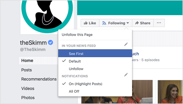 Ensure that brand champions see your page's content first in their Facebook news feed.