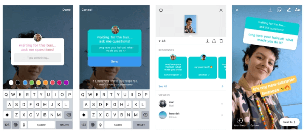 Instagram debuted interactive questions sticker in Instagram Stories, a fun new way to start conversations with your friends so you can get to know each other better.