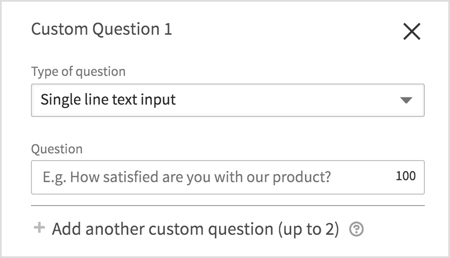 Add questions to your lead form.