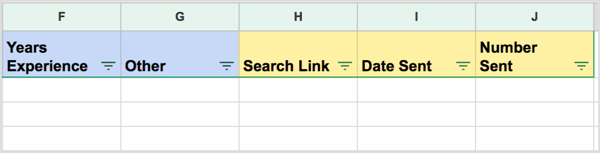 Keep track of your LinkedIn targeting and outreach with a campaign spreadsheet.
