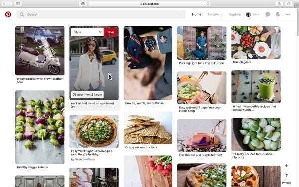 Pinterest rolled out an update that makes it possible to save Pins to a board from the desktop web with just one click instead of having to click the Save button and pick a board.