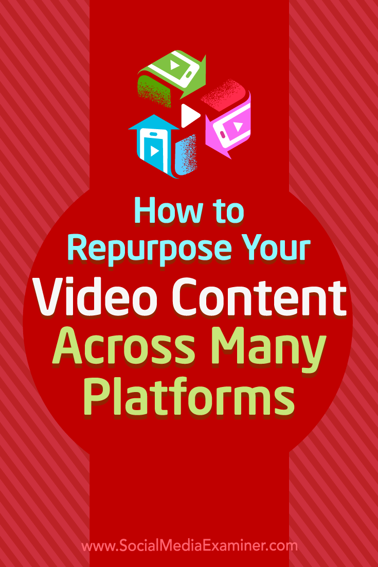 Discover how to repurpose one video into content that can populate your blog, podcast, and multiple social channels.
