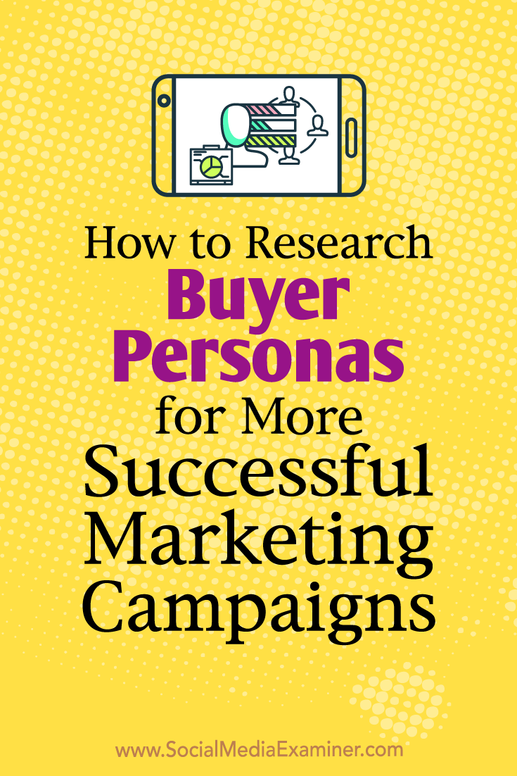 Learn how to research buyer personas to reveal preferences and behaviors that will help you deliver successful, targeted social media campaigns.