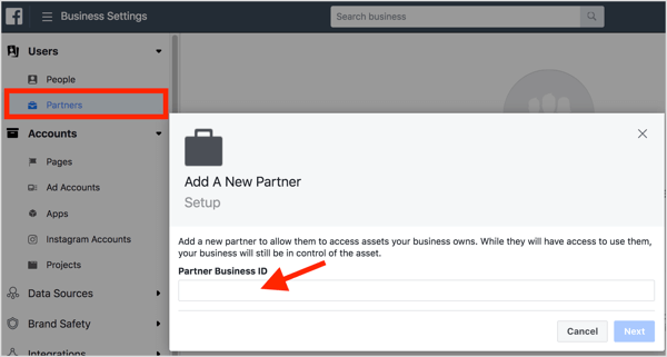 To share account access, add your agency's Business Manager as a partner to the client's Business Manager.