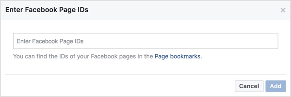 Enter the page ID number that corresponds with the Facebook page tied to ManyChat where you received this data.