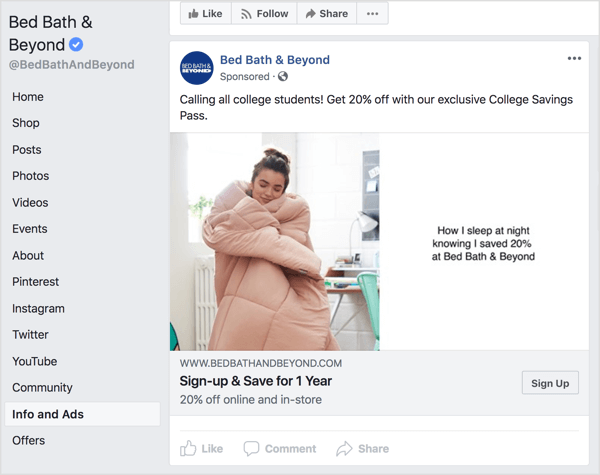 If someone sees that only one section of your audience is getting a discount (like this discount for college students from Bed Bath & Beyond), they might get frustrated, even if the discount is warranted.
