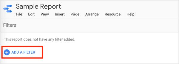 Click Add a Filter.