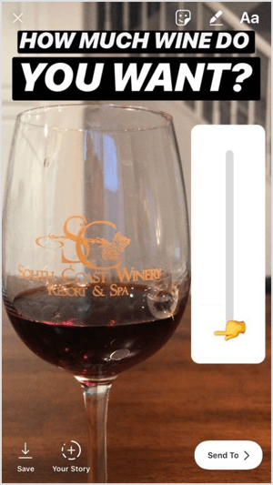 This tactic would be a unique way for wineries or restaurants to use the emoji slider to create fun, interactive posts.