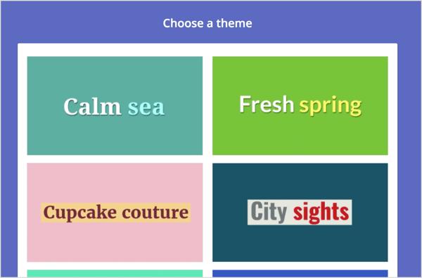 Choose a theme.