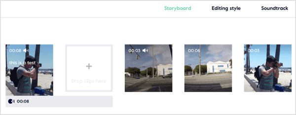 Edit, trim, and rearrange clips and preview your video in the Magisto storyboard editor.