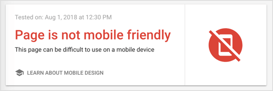 Google's Mobile-Friendly Test will assess whether a webpage is mobile friendly.