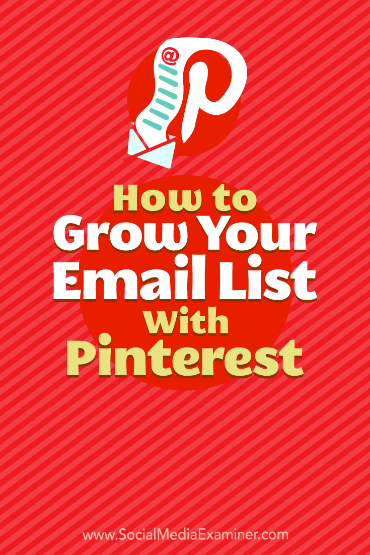 Want to get your Pinterest followers onto your email list? Discover how to promote your email opt-in via your Pinterest profile, boards, and pins.