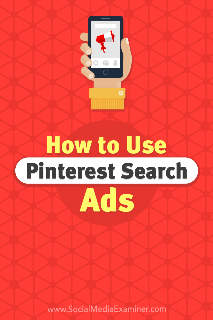 Want more visibility on Pinterest? Learn how to use Pinterest search ads to promote your products and services to your ideal customers.