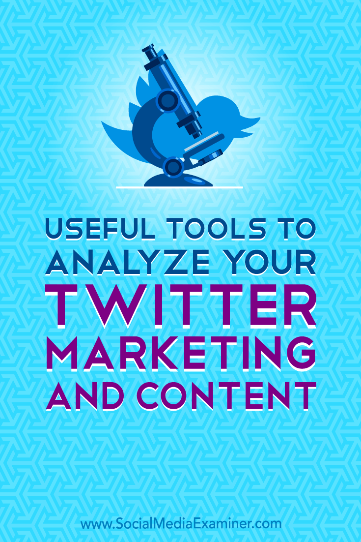 Discover tools that will help you analyze Twitter audience makeup and engagement data to deliver the Twitter content your audience values most.