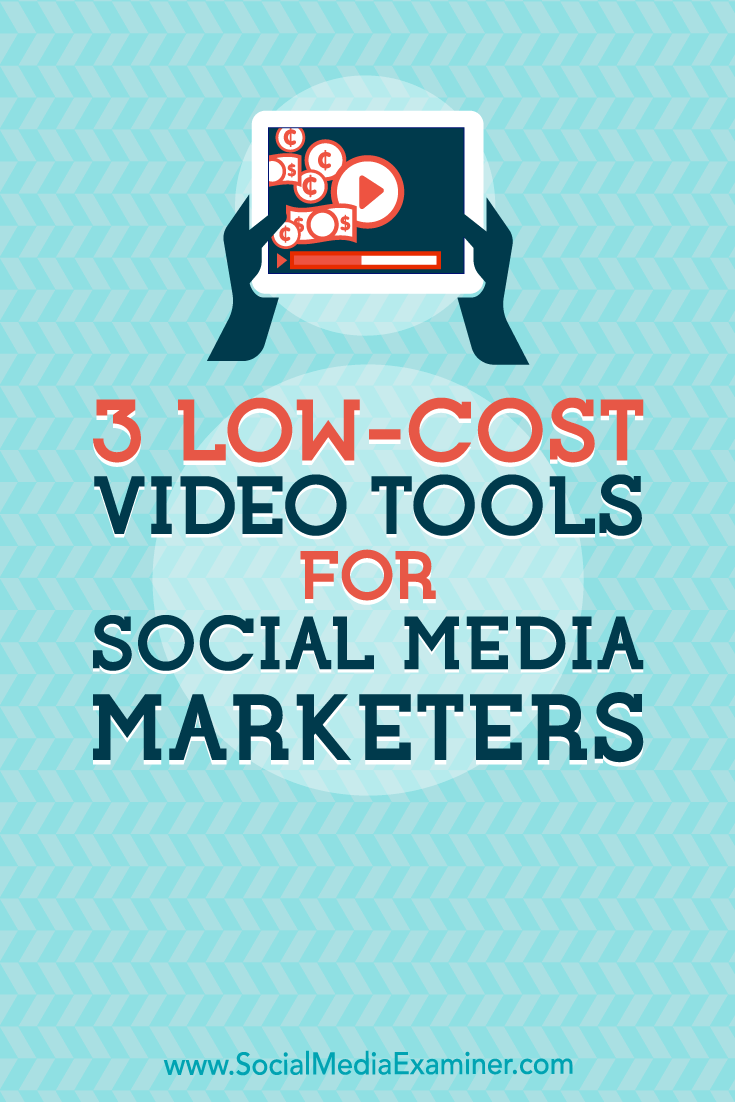 Need to do more marketing with video? Discover three tools to quickly and easily create polished, eye-catching videos for social media.