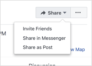Promote your Facebook event by inviting friends and sharing it via Messenger and as a post.