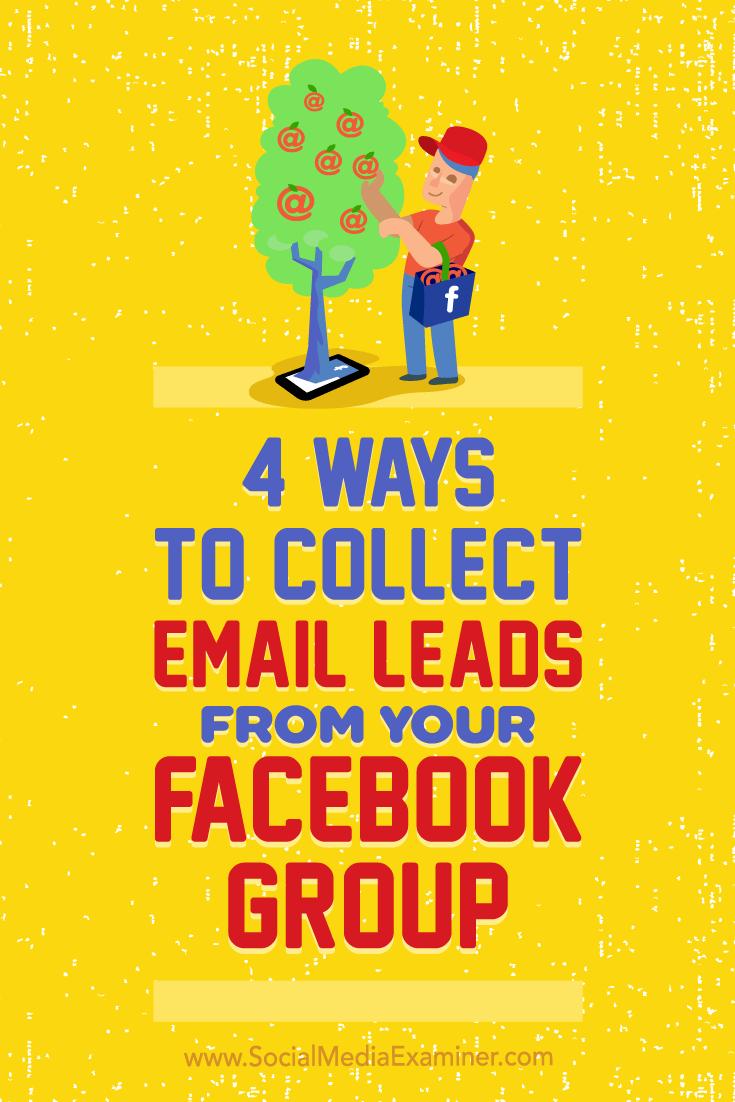 Aprenda quatro maneiras de criar uma lista de e-mail do seu grupo no Facebook. &quot;Data-pin-description =&quot; Aprenda quatro maneiras de criar uma lista de e-mail a partir do seu grupo no Facebook. &quot;/&gt; </div> </pre> <p><a href=