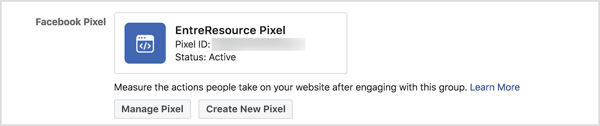 The ability to use the Facebook pixel with groups is a new feature in 2018.