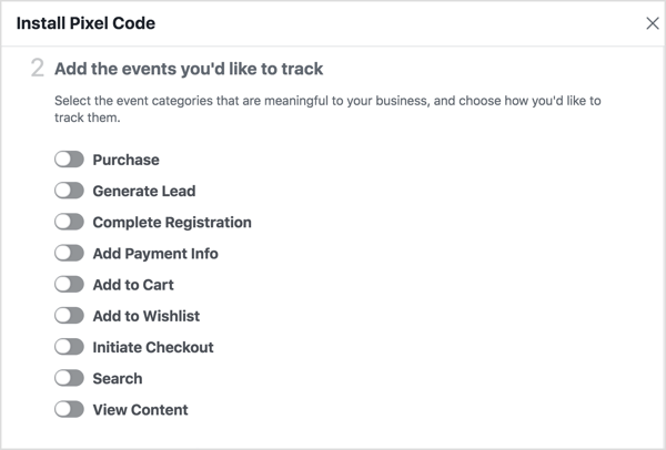 To run Facebook dynamic ads, you need to create additional events.