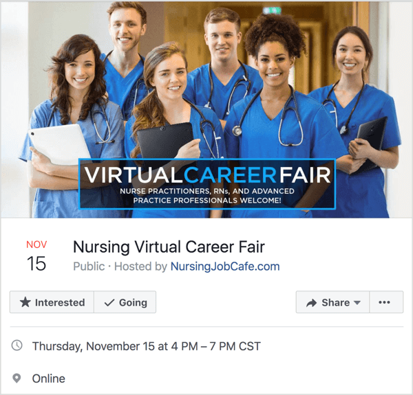 "Consider using the word ""virtual"" in your Facebook event title."