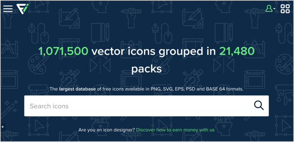 "Flaticon has a searchable library of hundreds of thousands of icons ""width ="" 600 ""height ="" 291"