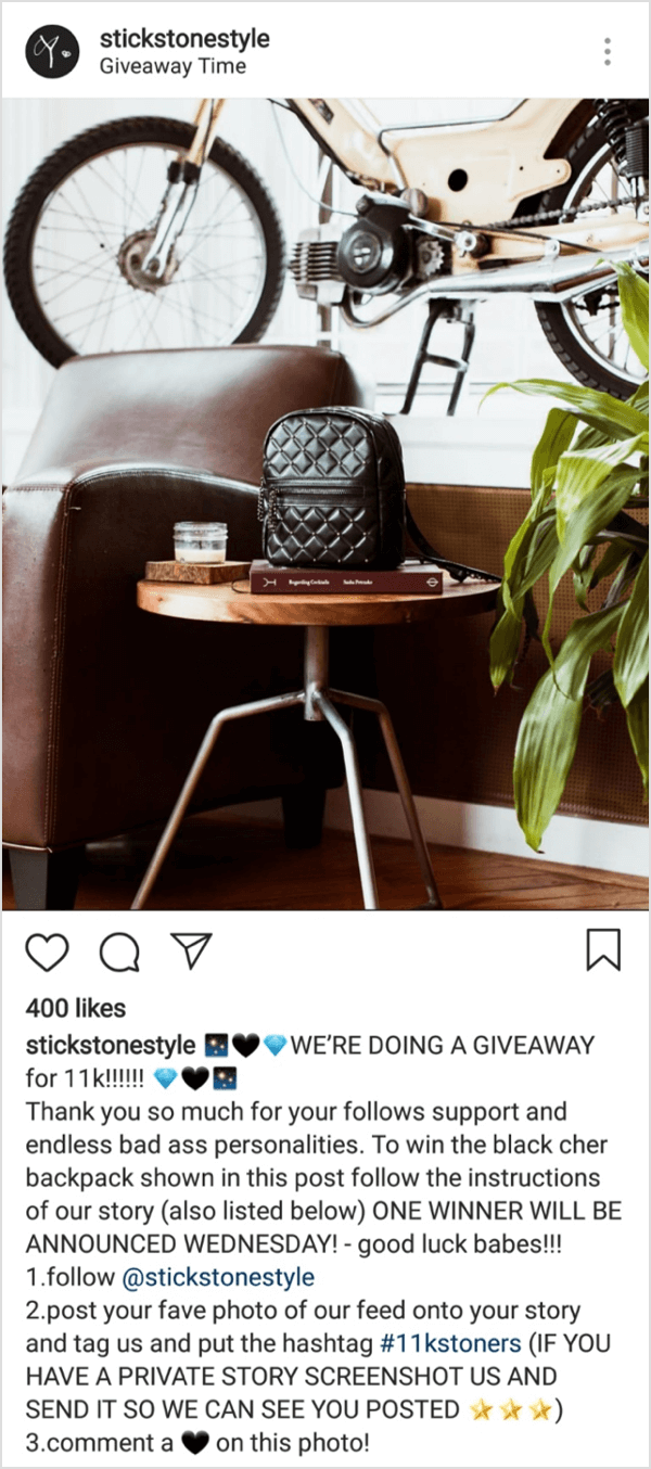 How to Do an Instagram Giveaway: Ideas and Tips : Social Media Examiner