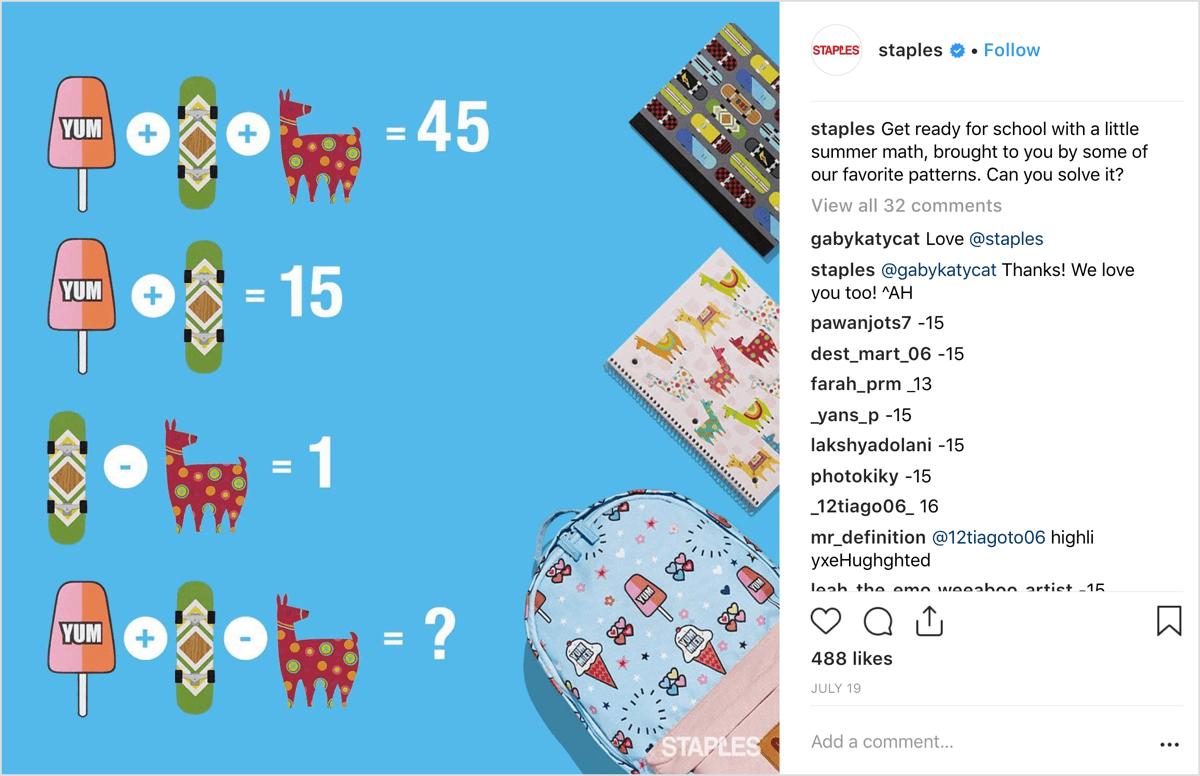 An original image design in an Instagram post.