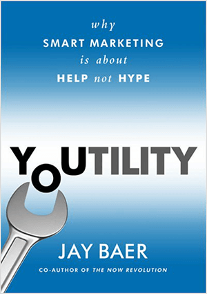 This is a screenshot of the book cover for Youtility by Jay Baer.