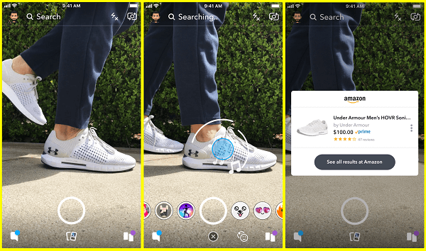 Snapchat is testing a new way to search for products on Amazon right from the Snapchat camera.