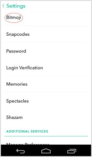 bitmoji integrate with snapchat