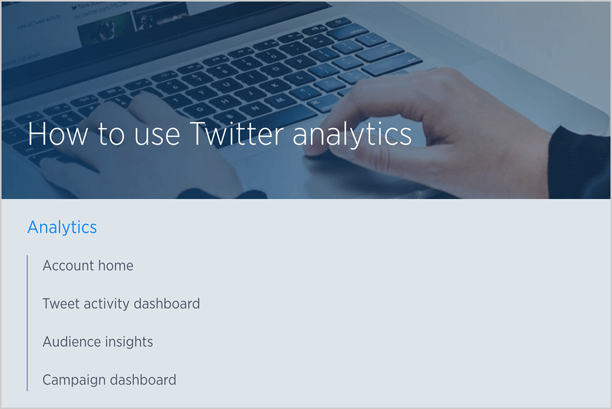 """8fbc007b8e This is a screenshot of a Twitter help article titled """"How to use Twitter  analytics"""