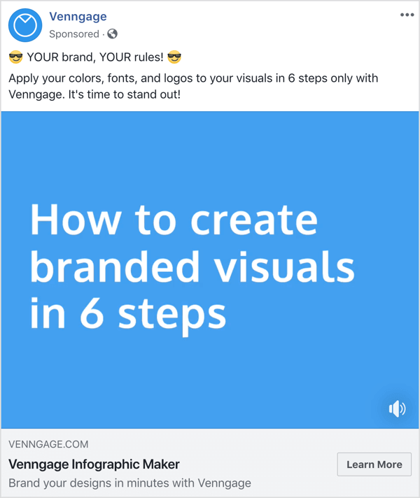 example of top of the funnel social media ad