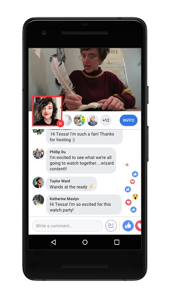 Facebook is also rollingout Live Commentating, which allows a Watch Party host to go live within a Watch Party, picture-in-picture, to share commentary as videos play.