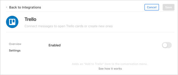 Install the Trello integration in the Front app.