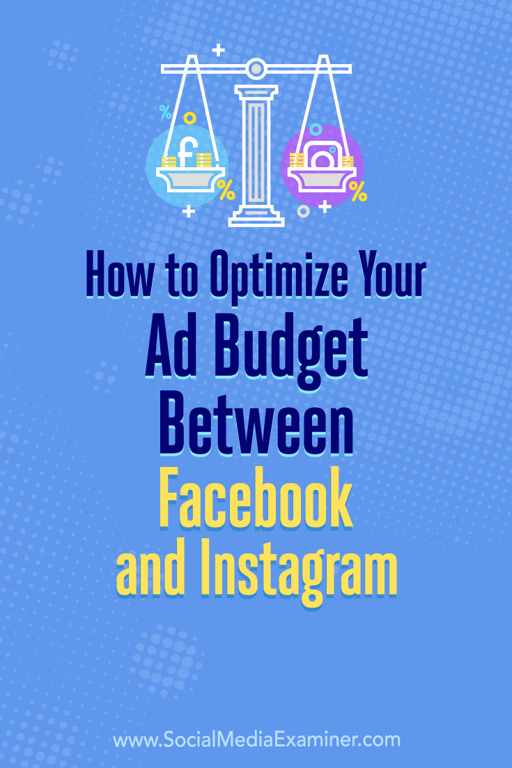 Learn how to use Facebook\'s split test feature to reveal how best to distribute your ad budget between Facebook and Instagram.